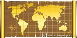 Free old world map clipart and vector graphics clipart old world map on vintage paper scroll old world map gumiabroncs Images