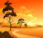 Free vector about cartoon landscape