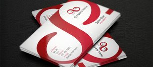 Red S Corporate Business Card Template
