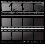 Set of Grunge Vintage Film Strips