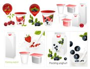 Vector packaging material, fruit and milk