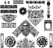 Victorian Ornaments Vector Free Pack