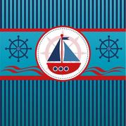Sailboat Blue Lines Background