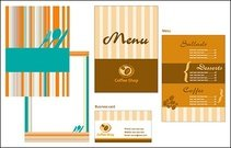 Catering menu card template
