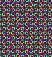 Colorful Abstract Seamless Circle Vector Pattern