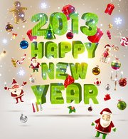 Free vector about happy new year-4