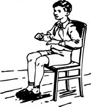 Boy Sitting In Chair