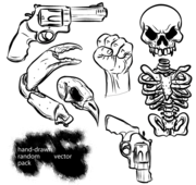 Hand Drawn Random Vector Pack Free