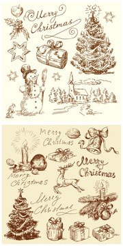 Vintage Christmas illustration