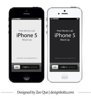 Apple iPhone 5 Front Mockup