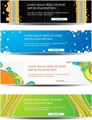 Web Decorations Vector 4 Headline Content