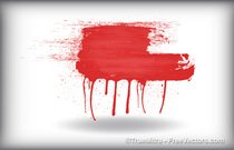 Red Color Brush Strokes
