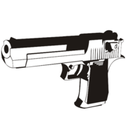 Black & wit Desert Eagle Handgun
