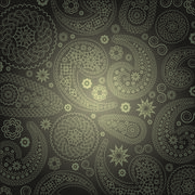 Golden Paisley Ornamental Background