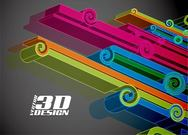 3D Abstract Ornate Line Background