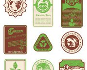 ECO and grunge vintage labels