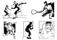 Vector Tennis Players