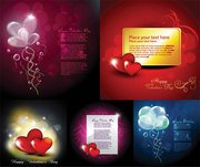 Vector elements of romantic love greeting card