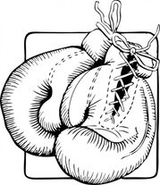 Boxing Gloves Outline