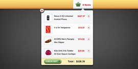 Shopping cart popup interface (PSD)