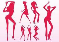 Sexy Dancing Girls Silhouettes
