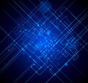 Futuristic Fluorescent Blue Tech Lines Background