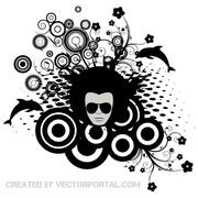 ABSTRACT STYLE rétro STOCK VECTOR.eps