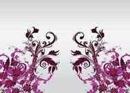 Decoración floral Vector arte