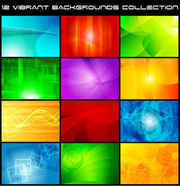 colorful vector background collection