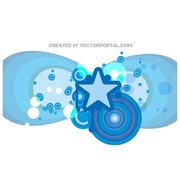 ABSTRACT BLUE VECTOR GRAPHICS.ai