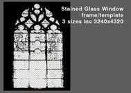 Stained Glass Window PSD Template