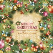 Template Xmas Card with Tree Frame