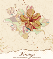 Télécharger Vintage Floral Background gratuit