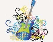 Stock Illustrations Guitar-Music Elements