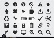 Flache Web Icon-set
