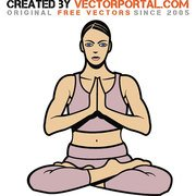 WOMAN IN YOGA POSE VECTOR.eps