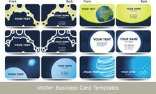 Blue Business Card Template Technology Sense 02