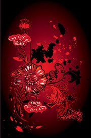 Floral pattern vector elements of the trend of material