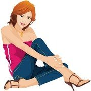 Jeans Girl Vector 27