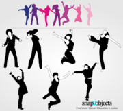 Free Vector Women Silhouettes in Motion