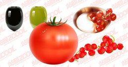 4 Vector material fruits and vegetables