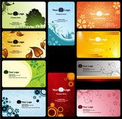 Exquisite patterns of plant class card template vector mater