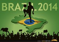 Brazil 2014 country fan crowds