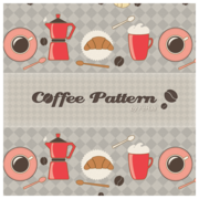 Caffè del mattino modello - Free Photoshop e Illustrator Patterns