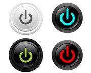 Button power vector set