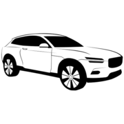 Luxury Black & White Volvo XC Coupe Car