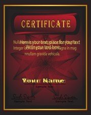 European Gorgeous Graduation Certificate Template