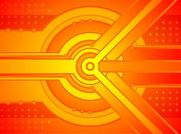 Abstract Orange Tech Background