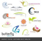Animals Plants Shape Logo Template