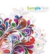 Colorful & Creative Abstract Floral Background